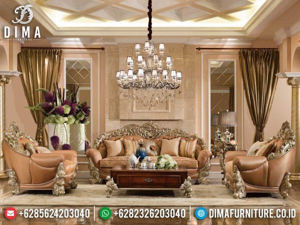 Elegant Desain Sofa Tamu Mewah Jepara Luxury Carving Italian Style Palace ST-1276