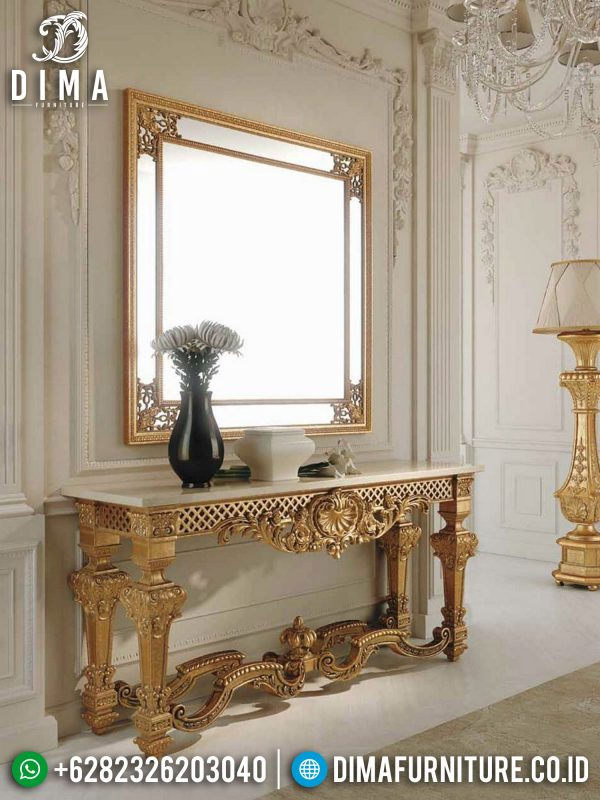 Elegant Golden Meja Konsol Ukiran Classic Luxury Color Art Duco ST-1345