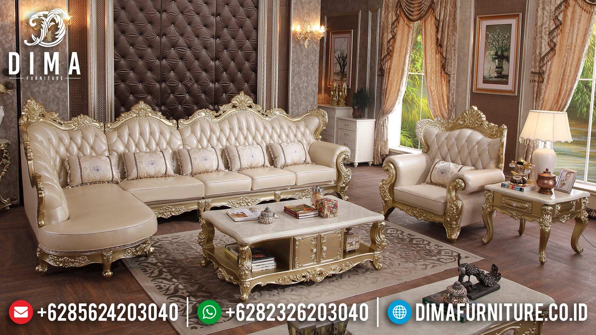 Elegant Set Sofa Tamu Mewah Luxury Italian Carving Furniture Jepara Terbaru ST-1364