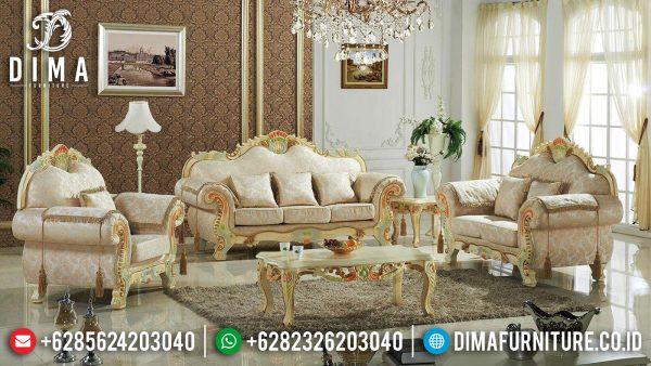 Grand Desain Sofa Tamu Mewah Classic Luxury Furniture Jepara Terbaru ST-1293