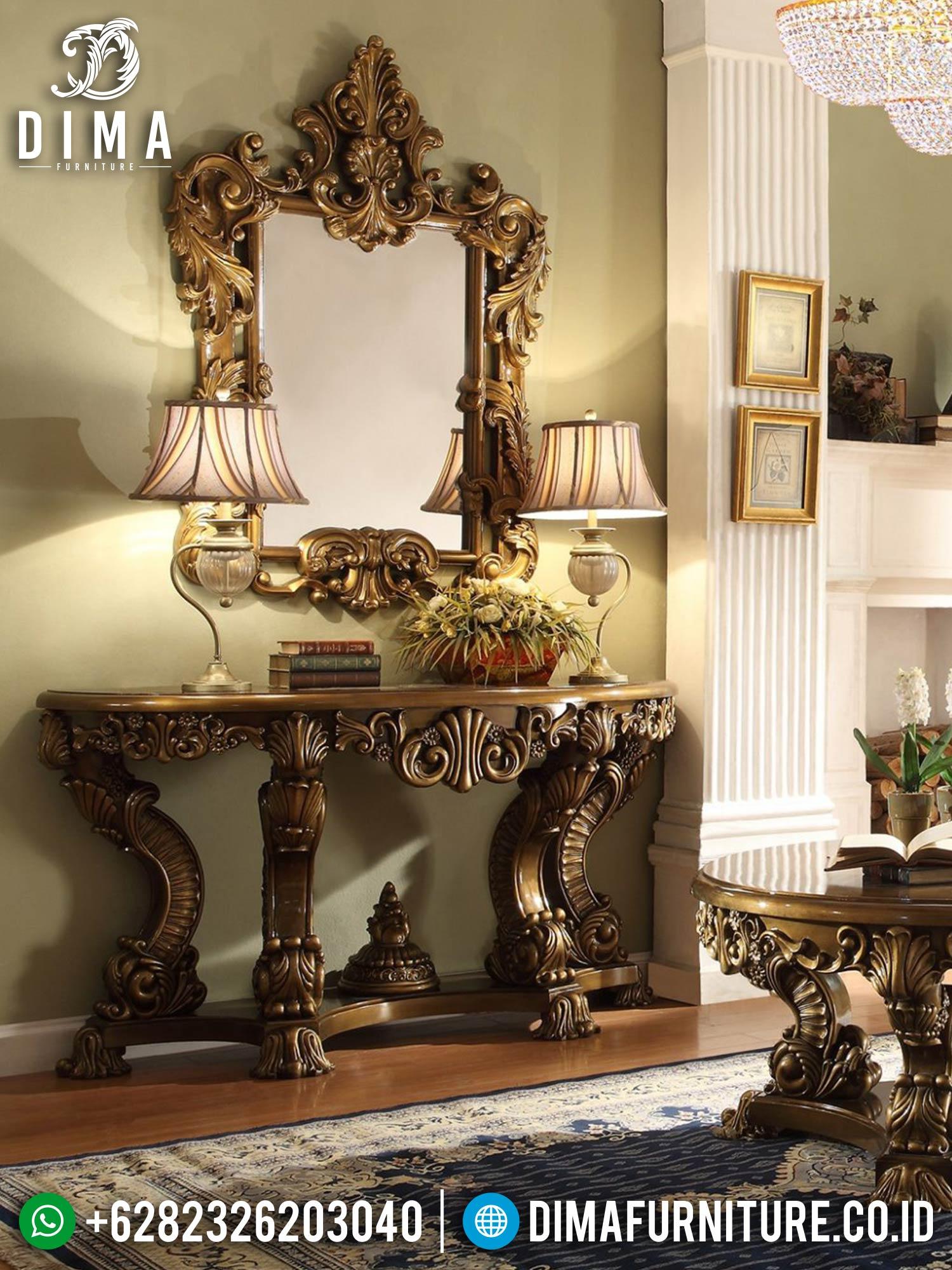 Great Style Meja Konsol Mewah Luxury Palace Design Italian Carving ST-1341