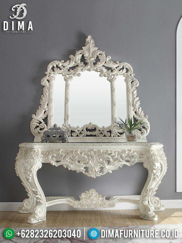 Harga Meja Konsul Mewah Putih Classic Luxury Furniture Jepara Best Sale ST-1339