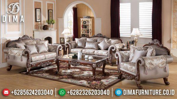 Harga Sofa Tamu Jepara Terbaru Luxurious Set Palace Design Natural Combination ST-1318