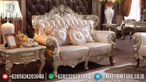 Harga Sofa Tamu Mewah 2 Dudukan Luxury Carving Italian Palace ST-1367