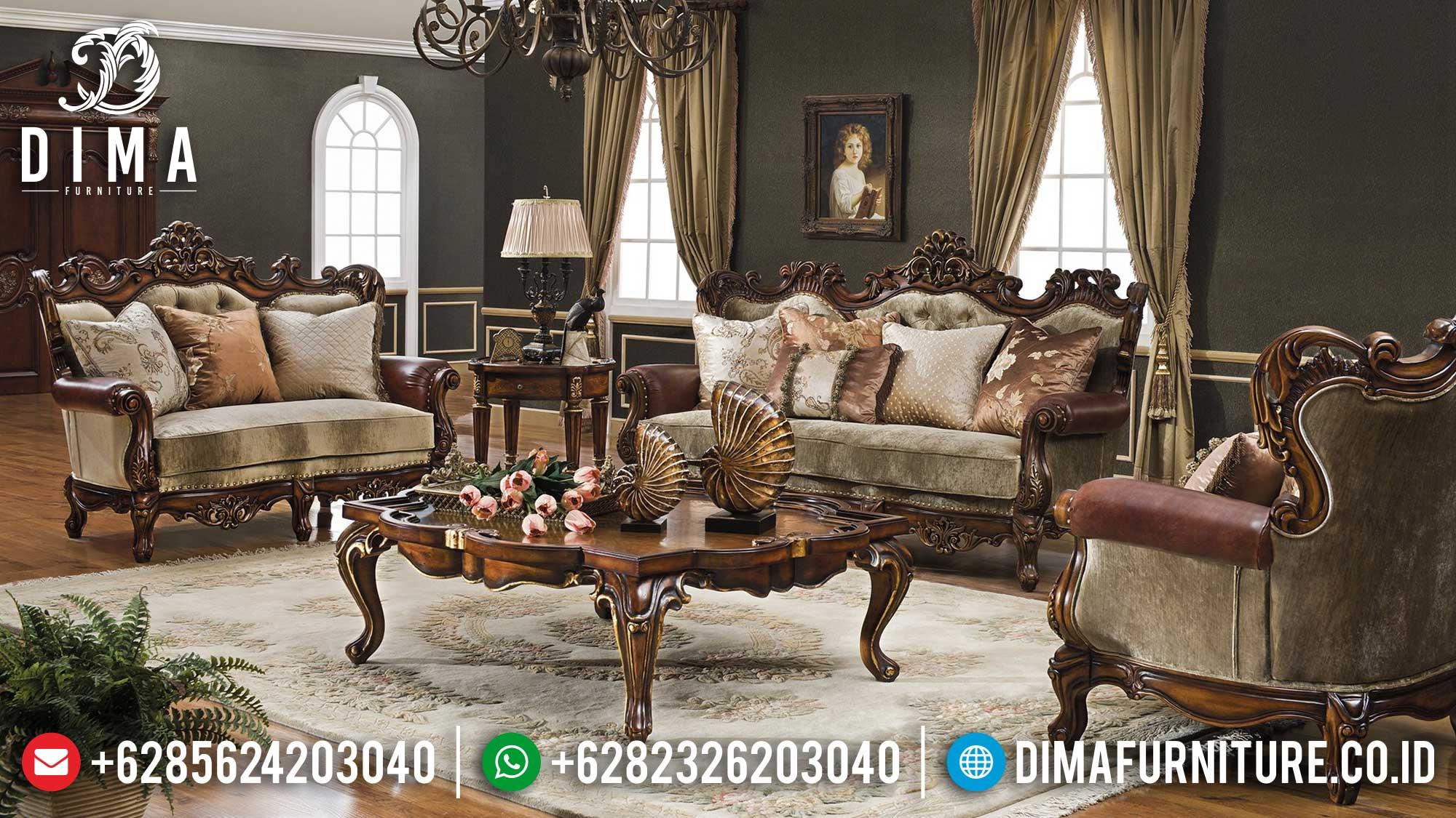 Harga Sofa Tamu Mewah Jepara Luxury Carving Italian Palace Design ST-1292