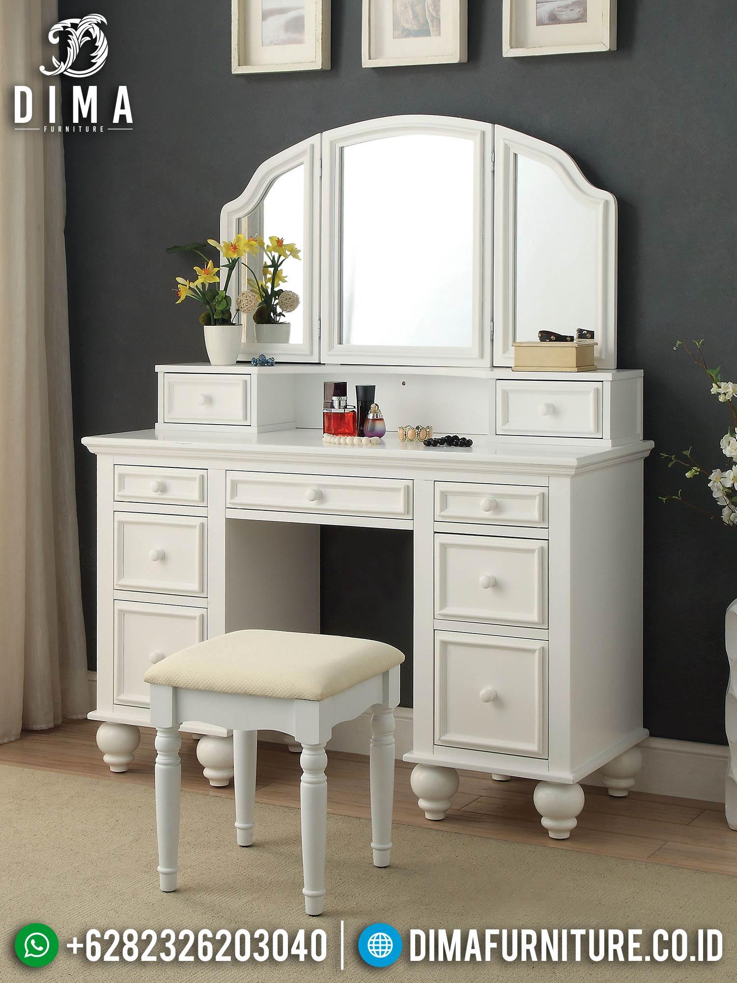 High Desain Meja Rias Minimalis Putih Elegant Color ST-1396