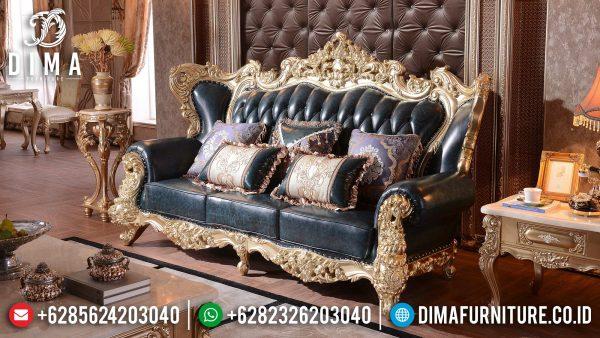 Italian Baroque Sofa Tamu Mewah 3 Seater Luxury Carving Elegant Color Furniture Jepara ST-1370