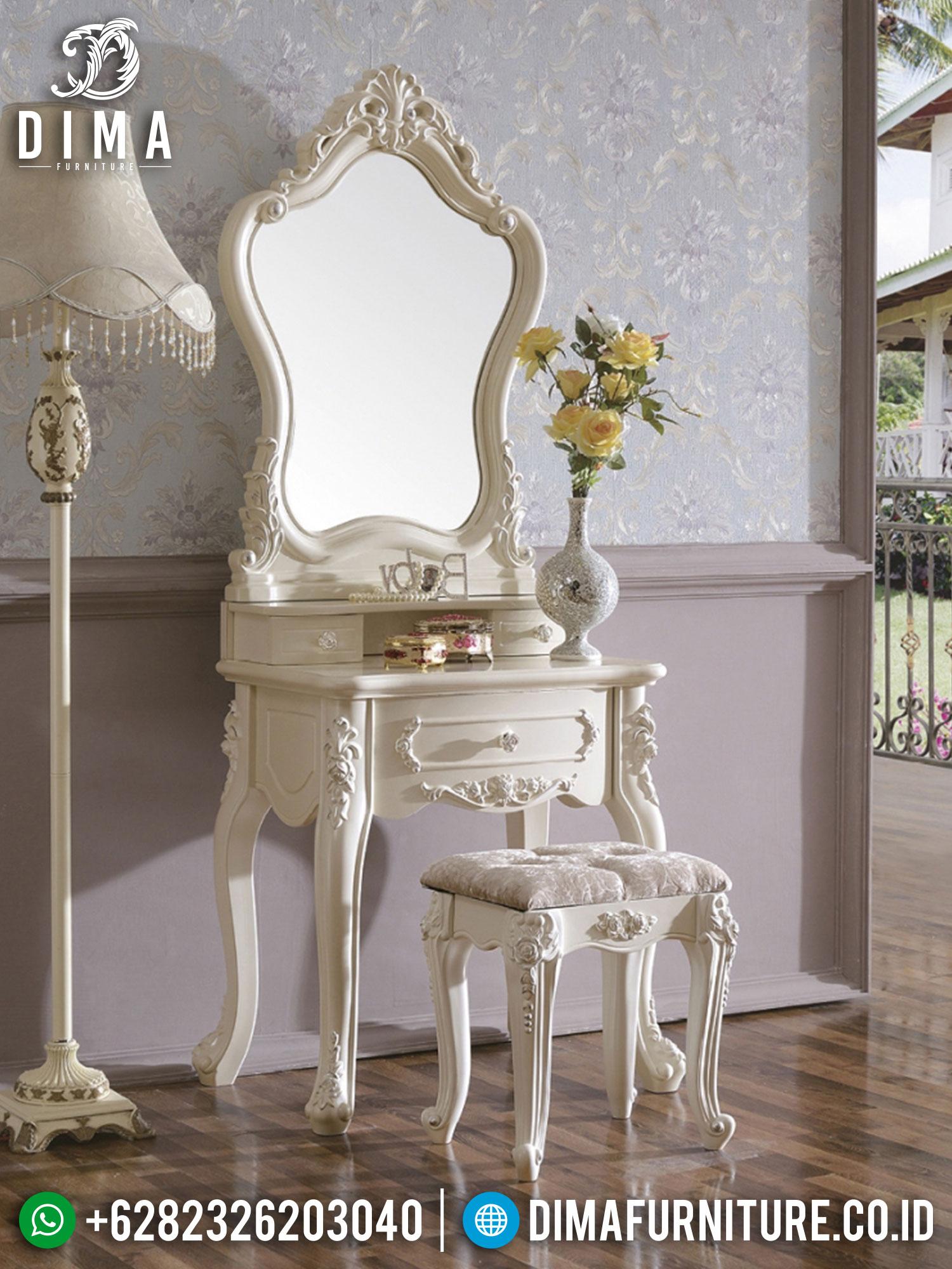 Jual Meja Rias Mewah Classic Luxury White Duco New Design ST-1394