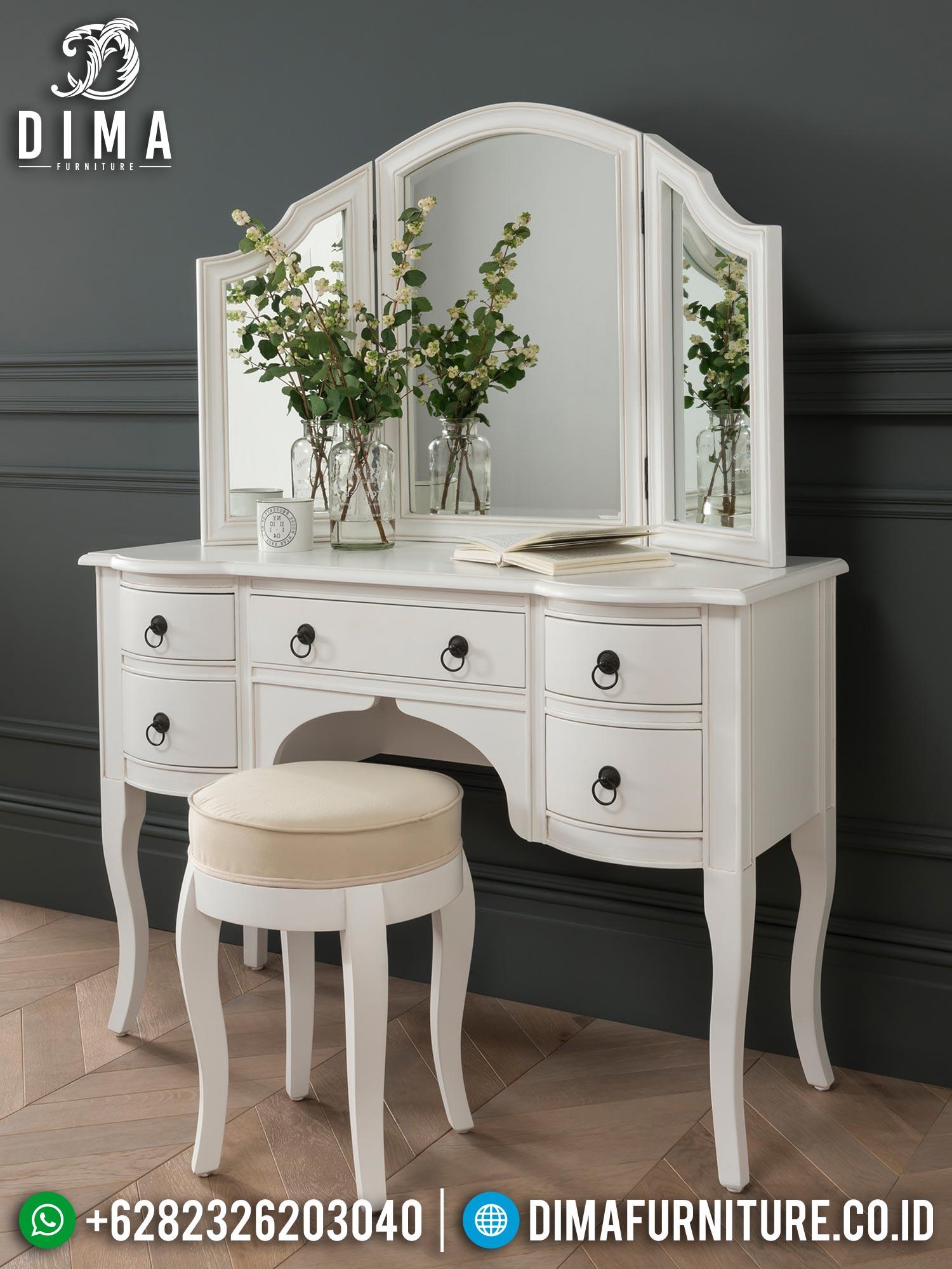 Jual Meja Rias Minimalis Putih Klasik Elegant Style Luxury ST-1332