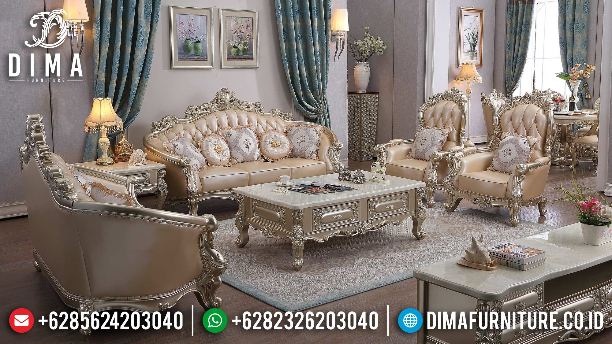 Jual Sofa Tamu Mewah Classic Luxury Design Best Quality Product ST-1355
