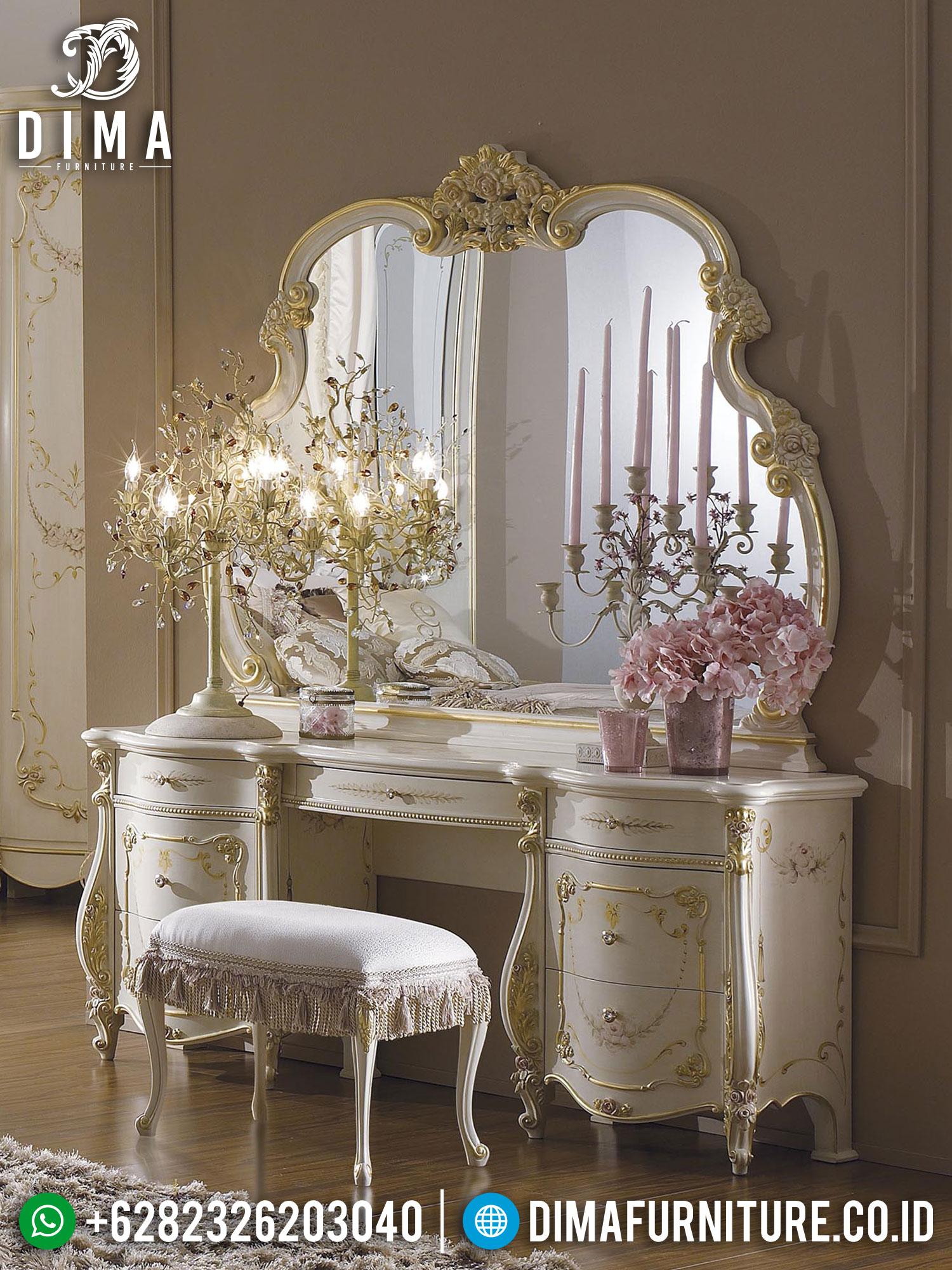 Meja Rias Mewah Ukiran Jepara Classic Luxury Design Best Sale ST-1333