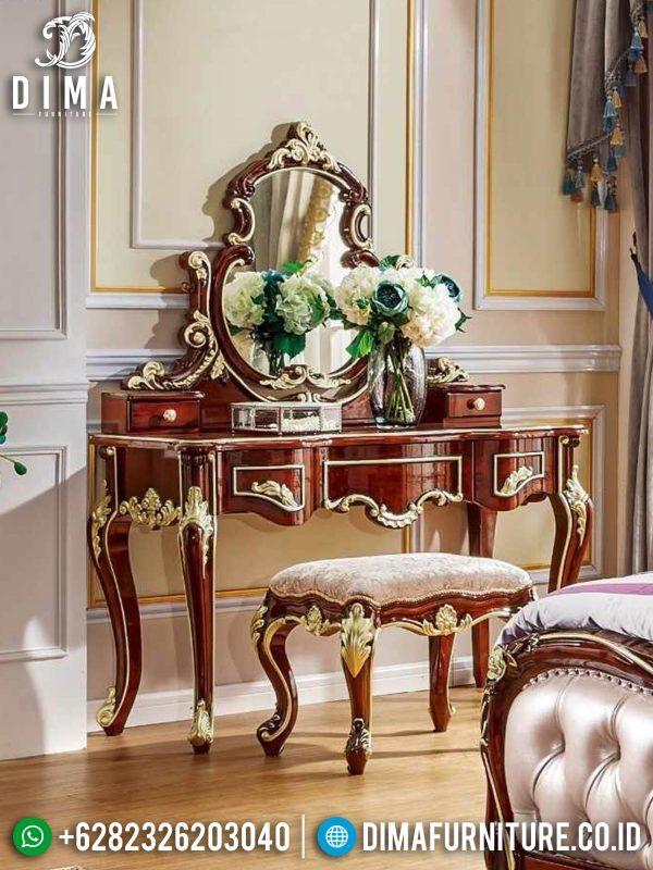Meja Rias Mewah Ukiran Jepara New Luxury Style ST-1397