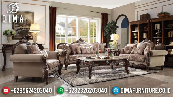 Model Sofa Tamu Mewah Kayu Jati Luxury Carving Classic High Quality ST-1286