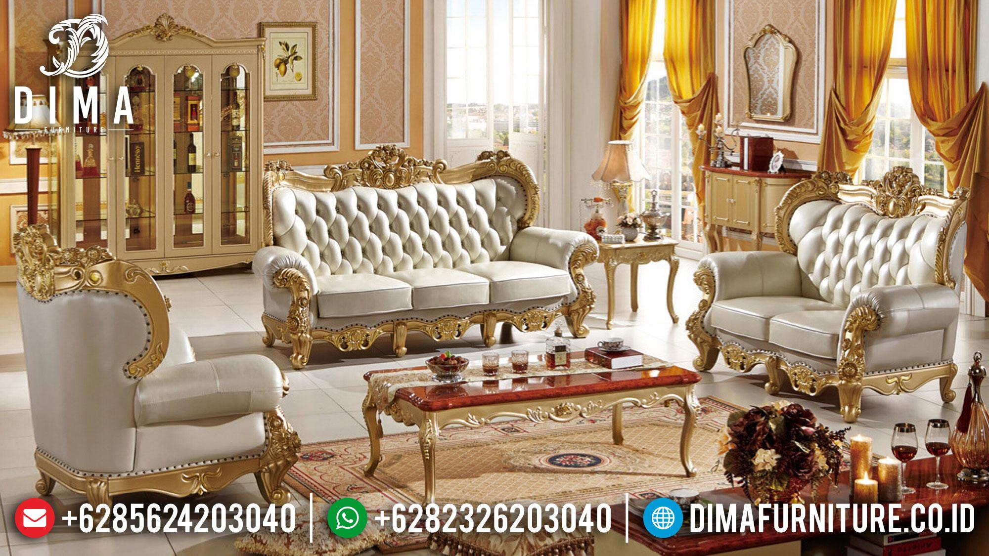 New Set Sofa Tamu Mewah Jepara Luxury Golden Shine Duco Color ST-1317