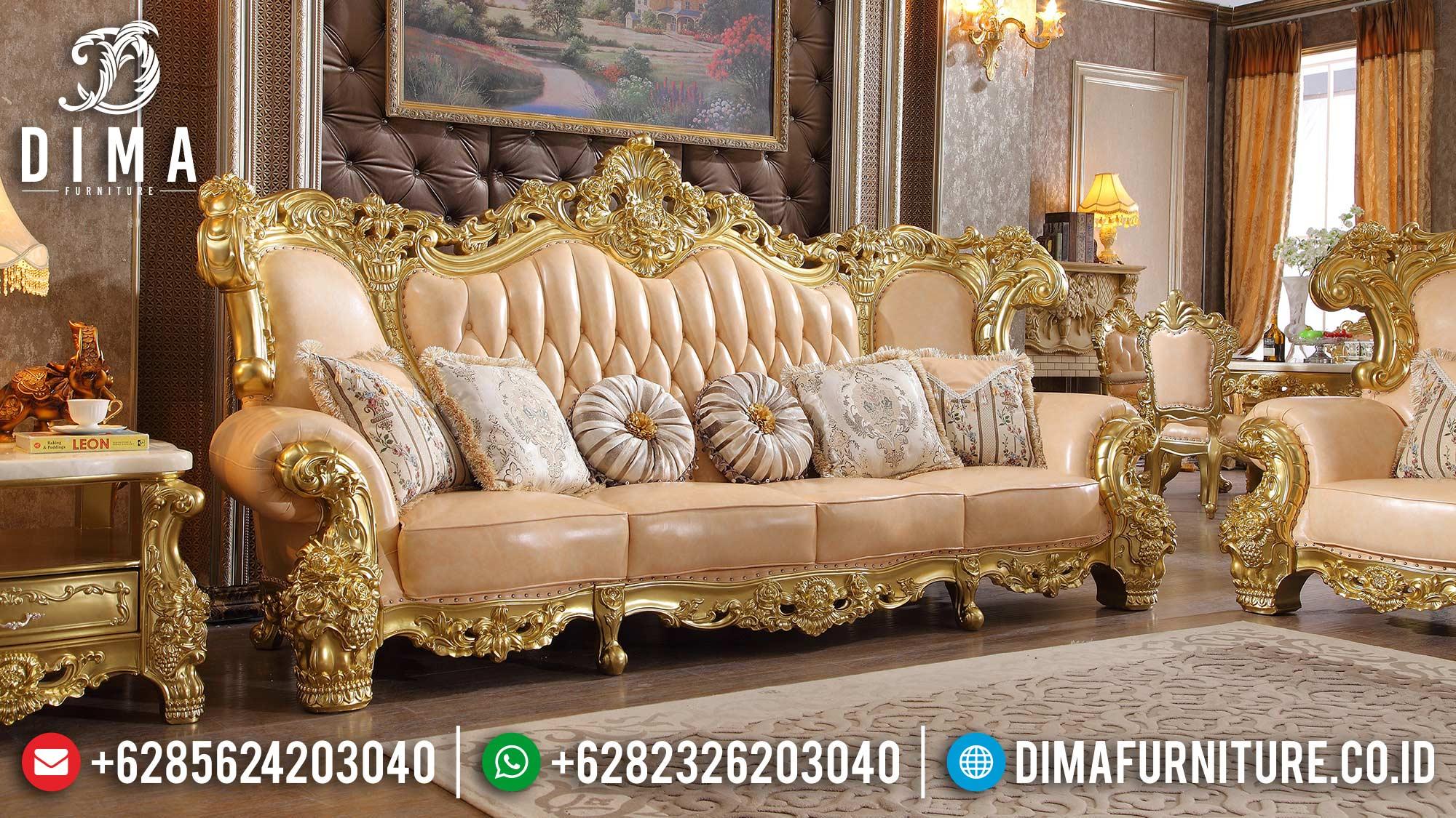 New Sofa Tamu Jepara Mewah 3 Dudukan Luxury Carving Furniture Klasik Jepara ST-1368