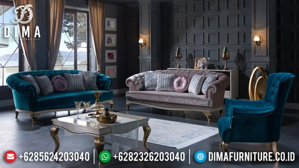 New Sofa Tamu Mewah Minimalis Luxury Color Combination Art Duco Glossy ST-1298