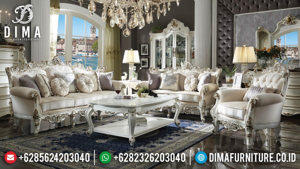 New Sofa Tamu Mewah Putih Duco Luxury Glossy Color Combination ST-1383