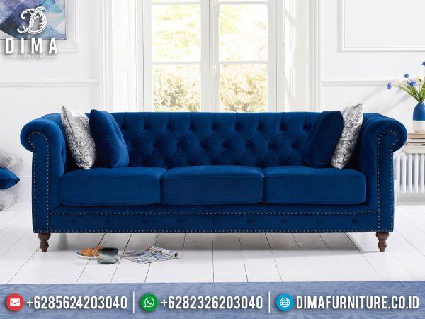 New Sofa Tamu Minimalis 3 Dudukan Chester Design Luxury Furniture Jepara ST-1274