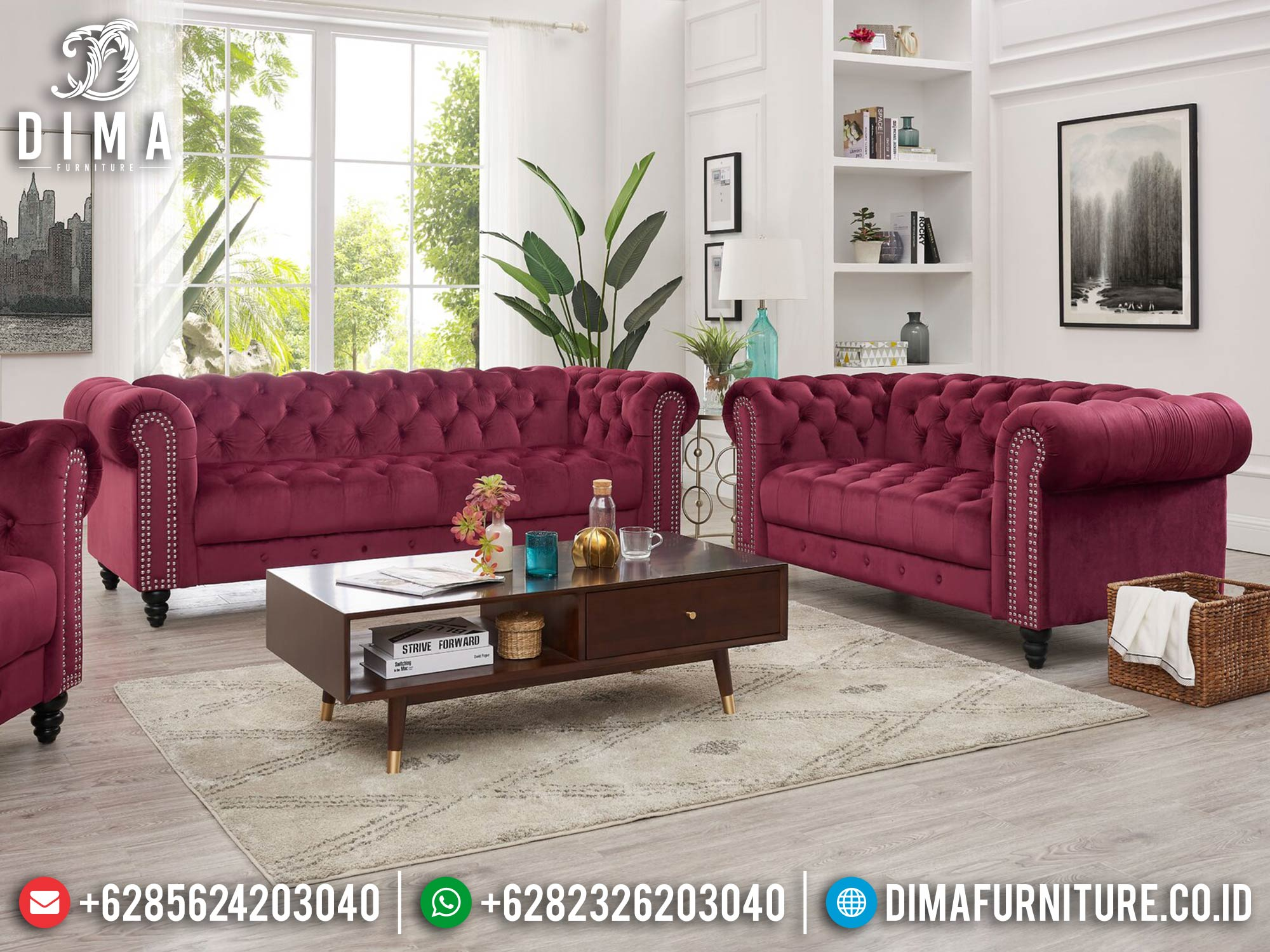 New Sofa Tamu Minimalis, Set Sofa Tamu Jepara, Furnitur Sofa Minimalis Luxury ST-1319