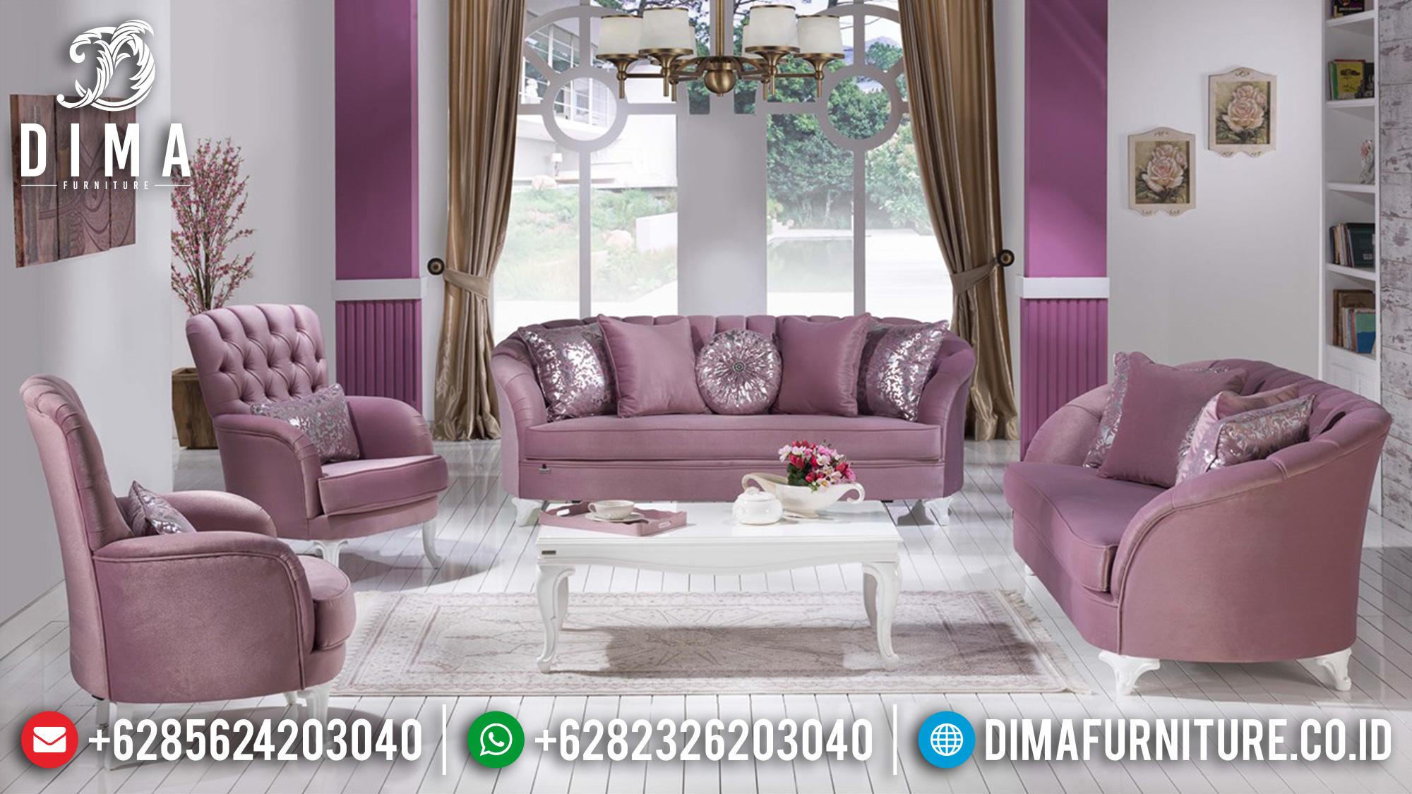 New Style Sofa Tamu Minimalis Putih Duco Luxury Furniture Jepara ST-1302