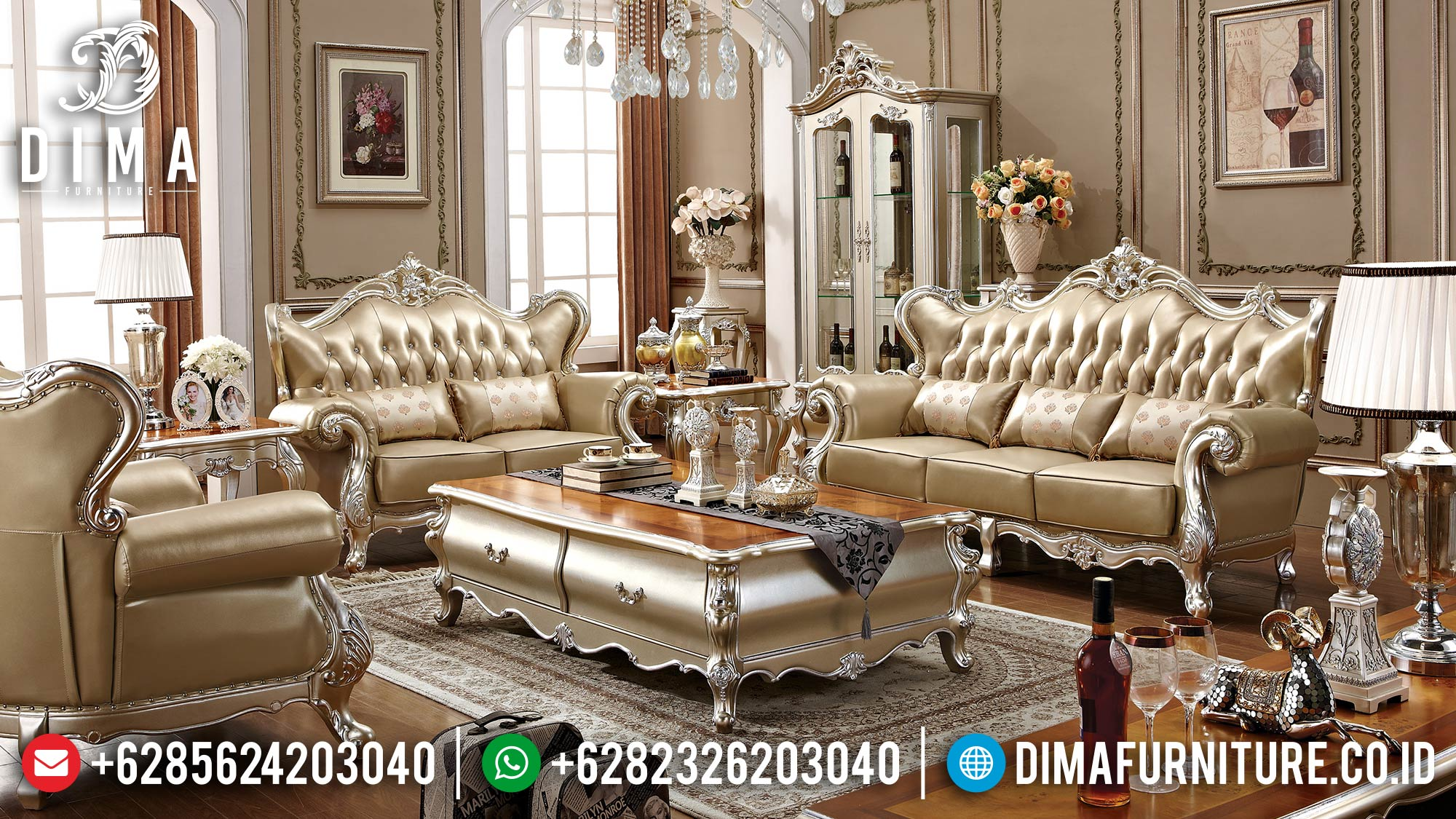 Sale Sofa Tamu Mewah Silver Duco Color Luxury Classic Jepara ST-1315