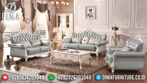 Set Sofa Tamu Mewah Putih Duco Luxury Classic Carving Great Solid Wood ST-1358