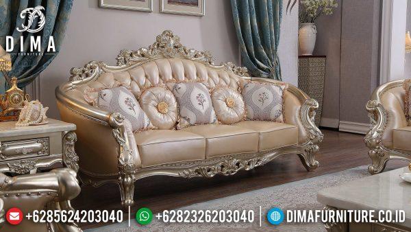 Sofa Tamu 3 Seat Mewah Ukiran Jepara Luxurious Design New Furniture Jepara ST-1371