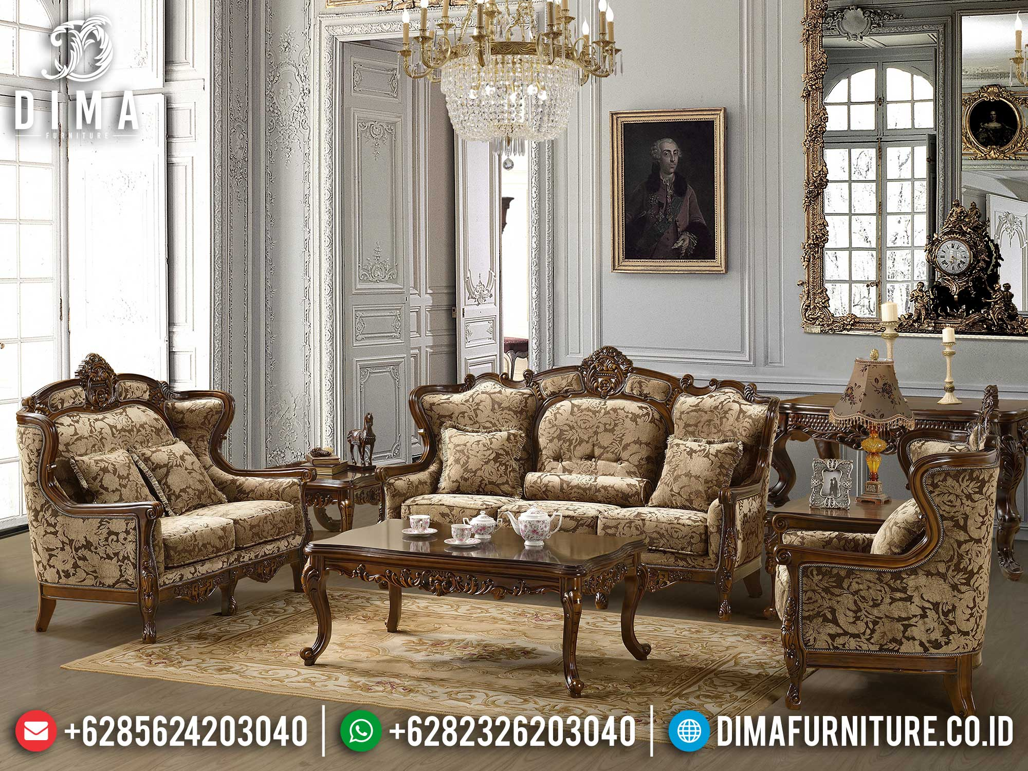 Sofa Tamu Mewah Classic Luxury Design High Quality Royal Foam ST-1275
