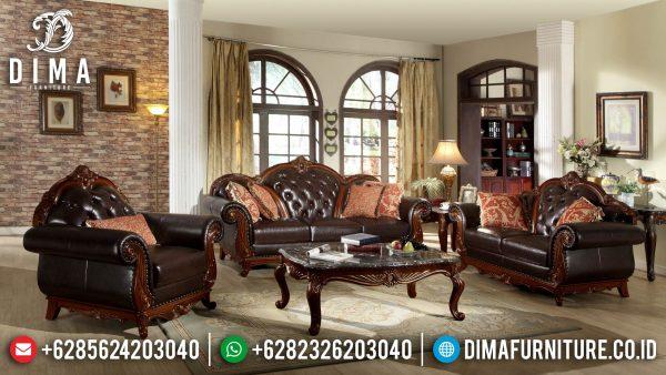 Sofa Tamu Mewah Jati Classic Natural Luxury Furniture Jepara Terbaru ST-1285