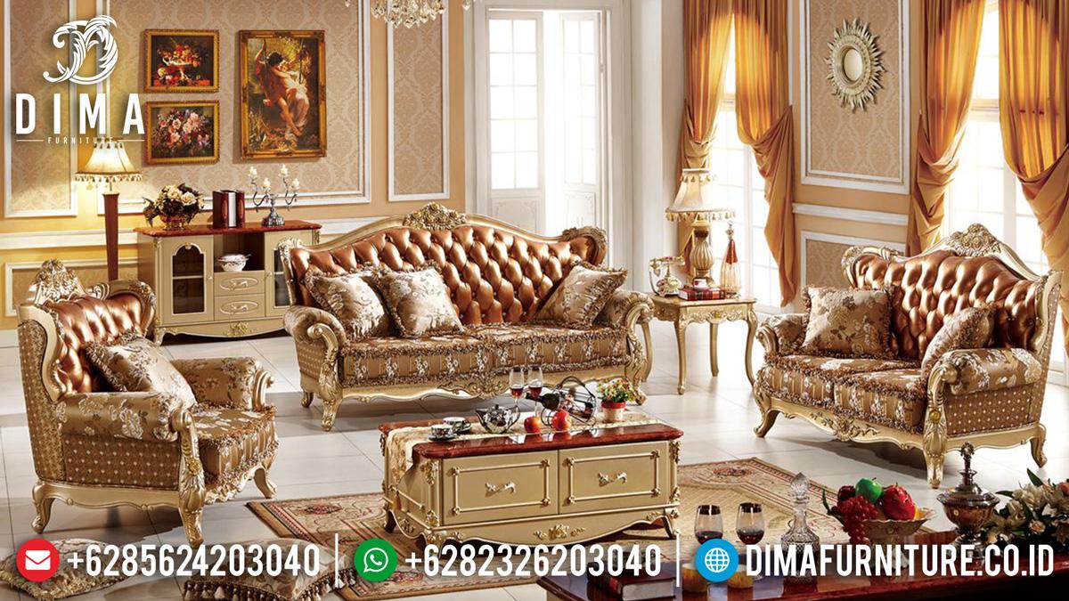 Sofa Tamu Mewah Jepara Elegant Style Excellent Color ST-1387