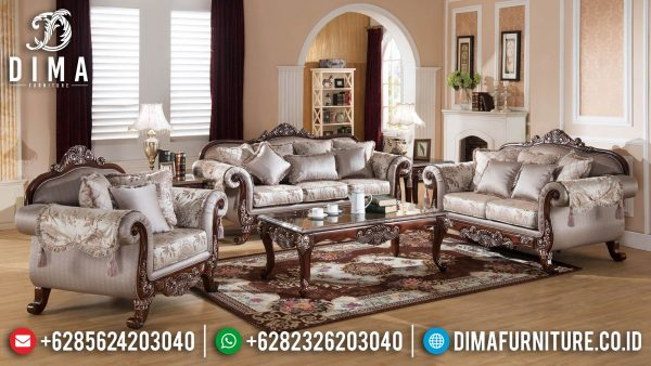 Sofa Tamu Mewah Kayu Jati Natural Luxury Classic Furniture Jepara ST-1291