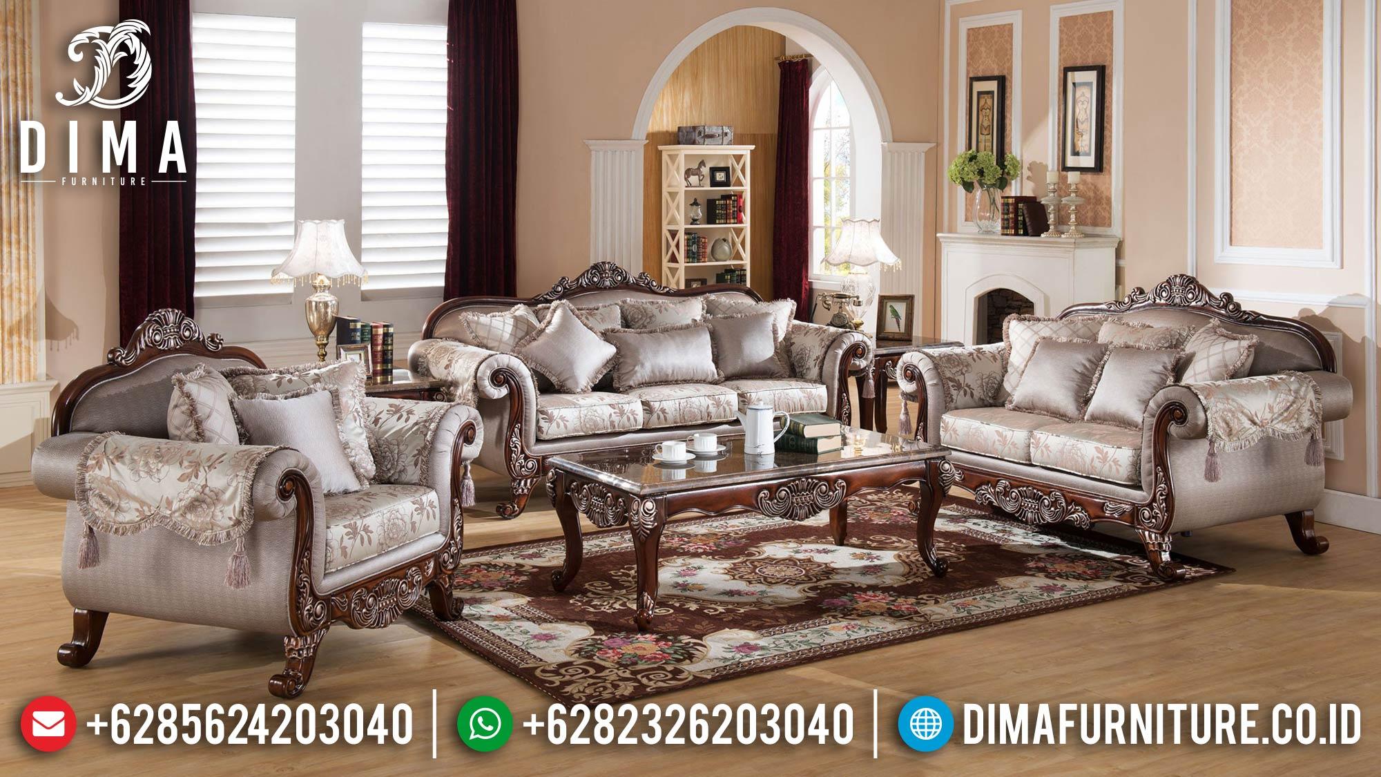 Sofa Tamu Mewah Kayu Jati Natural Luxury Classic Furniture Jepara ST-1291