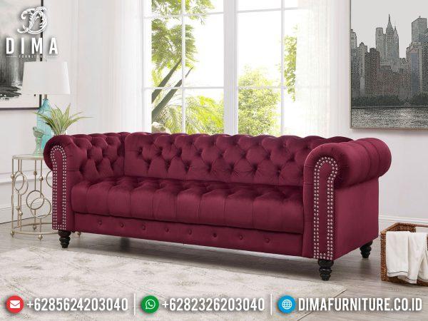 Sofa Tamu Minimalis 3 Seater New Chester Design Luxury Furniture Jepara ST-1322
