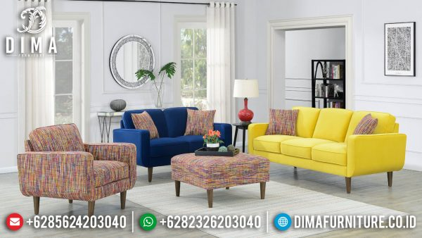 Sofa Tamu Minimalis Colorful Fabric Soft & Best Quality Royal Foam ST-1299