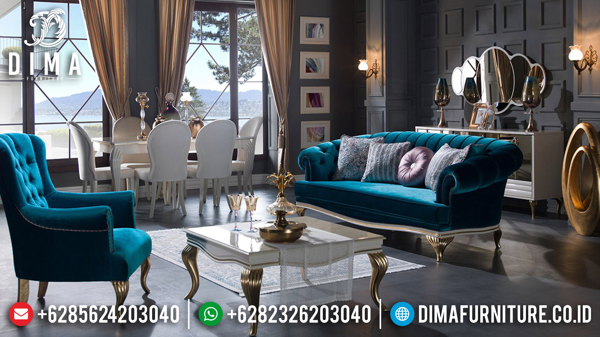 Sofa Tamu Minimalis Terbaru Elegant Style 100 % High Quality ST-1301
