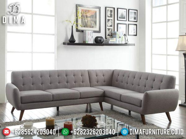 Sofa Tamu Minimalis Terbaru Kayu Jati Perhutani Natural Color Best Sale ST-1270