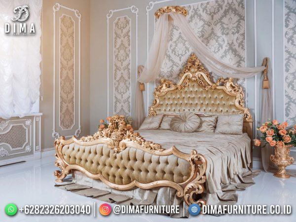 Best Seller Tempat Tidur Mewah Terbaru Luxury Royal Golden Art Duco ST-1423