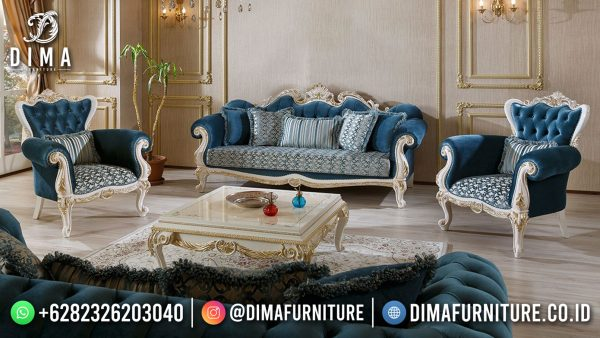 Crowned Style Sofa Mewah Jepara Desain Ruang Tamu Luxury Interior Inspiring ST-1443