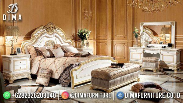 Desain Set Tempat Tidur Mewah Ukiran Luxury Royal Classic New Furniture Jepara ST-1419