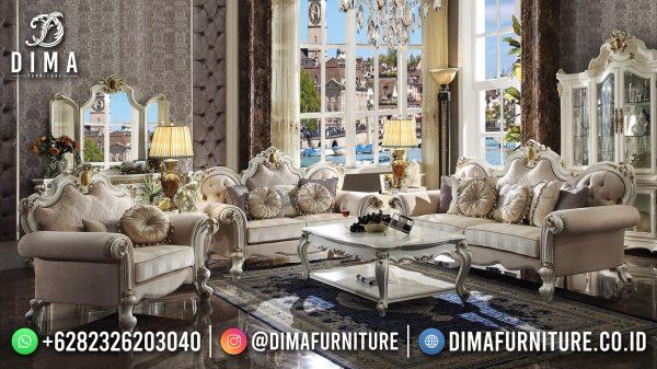 Desain Sofa Ruang Tamu Mewah Terbaru Classic Elegant Luxury ST-1445