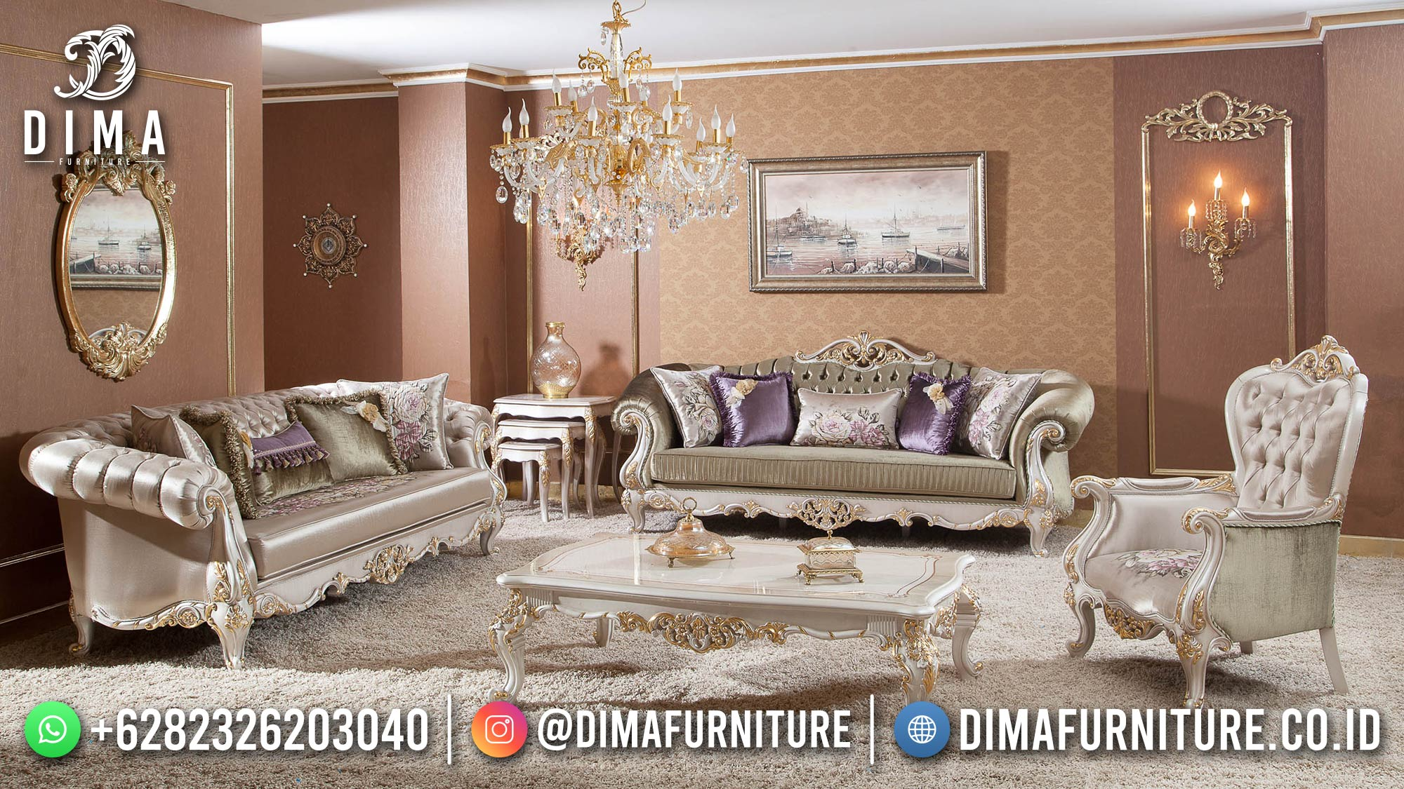 Desain Sofa Tamu Mewah Luxury Living Room Inspiring ST-1431