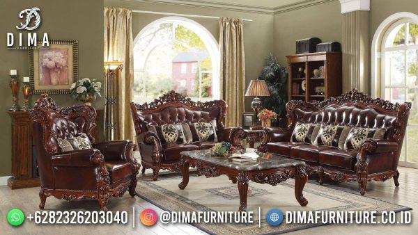 Elegant Set Sofa Tamu Jepara Natural Jati Classic Luxury Carving ST-1446