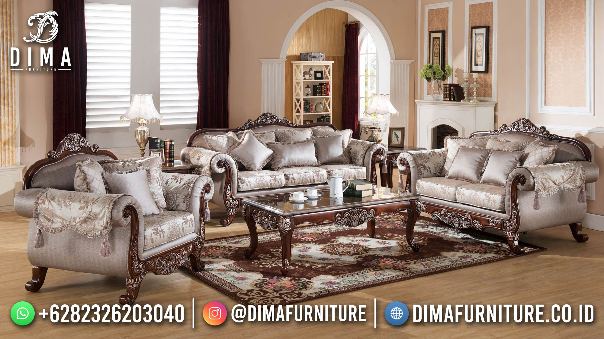 Flash Sale Sofa Tamu Mewah Luxury Design Classic 100 % High Quality ST-1434