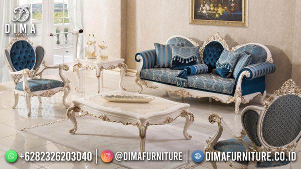 Furniture Jepara Sofa Tamu Mewah Terbaru Luxurious Style Kayu TPK Perhutani ST-1435