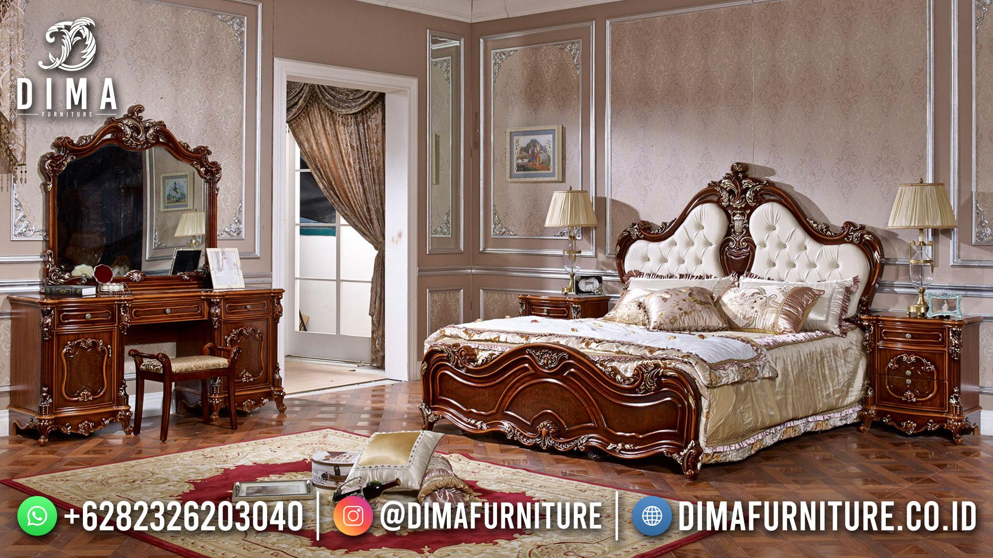 Furniture Jepara Tempat Tidur Mewah Natural Jati Luxury Classic ST-1411