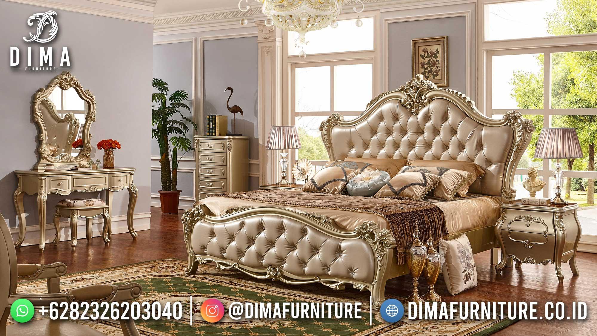 Greatest Style Tempat Tidur Mewah Ukir Luxury Golden Duco Color ST-1410