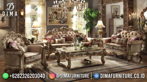 Harga Sofa Tamu Mewah Jepara Classic Golden Luxury Color New Carving Design ST-1450