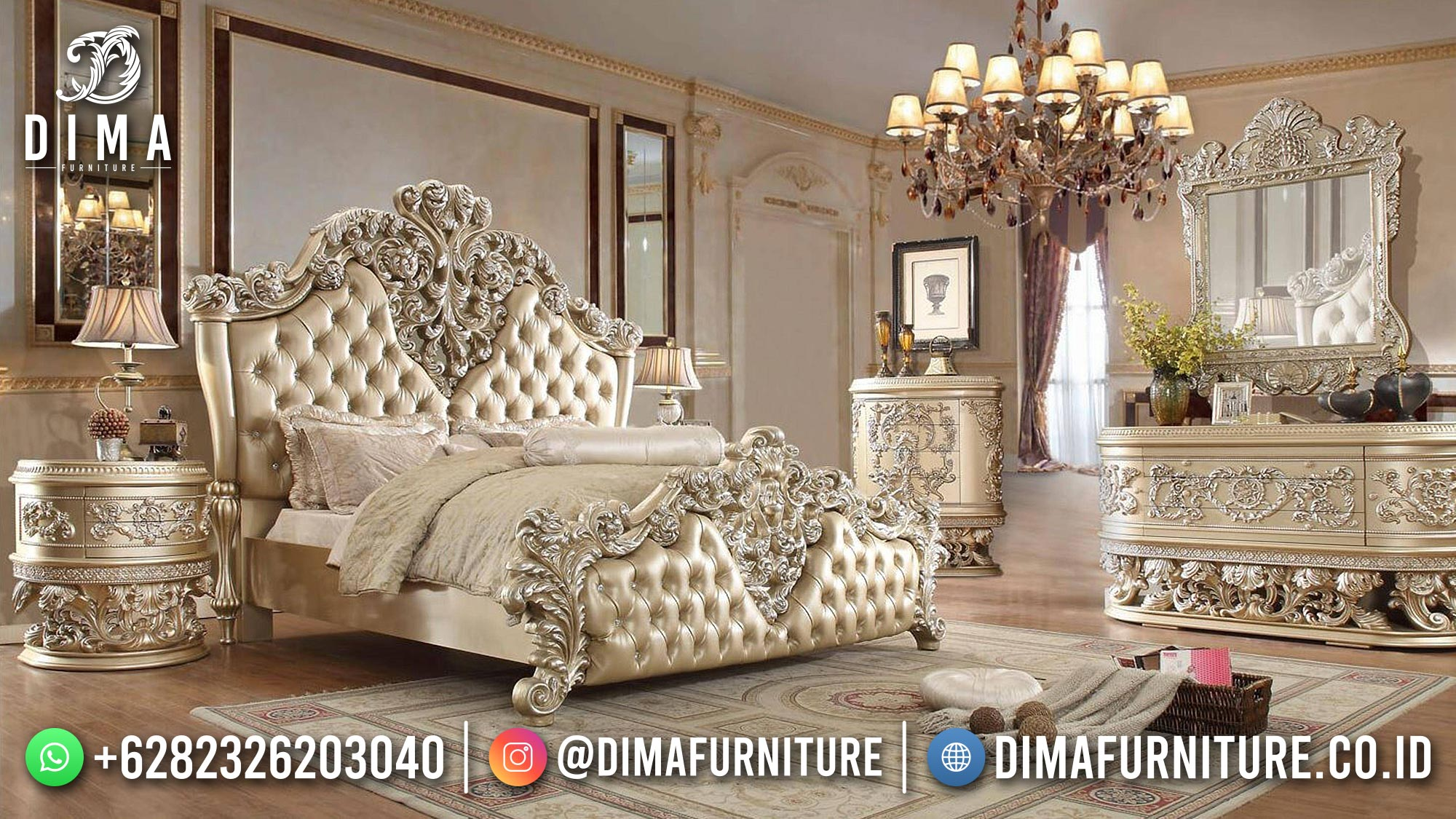 Jual Tempat Tidur Mewah Classic Luxury Elegant Style Hot Sale ST-1420