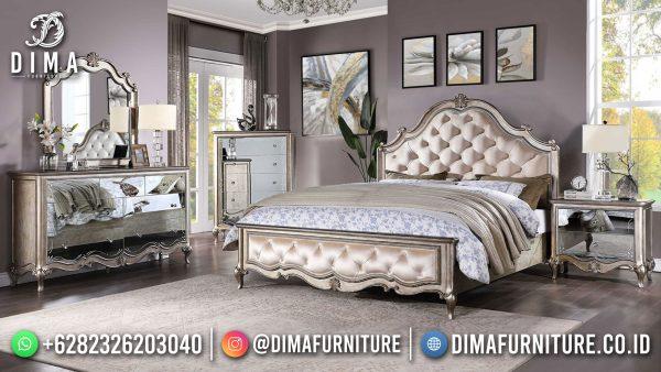 New Kamar Set Mewah Minimalis Pearl Silver Color Futuristic Design ST-1421