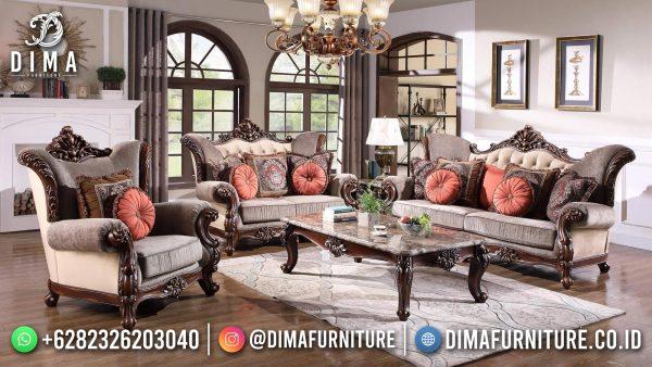 New Sofa Tamu Jepara Classic Luxury Natural Jati Color ST-1453